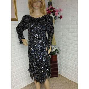 Swee Lo Vintage 80's Sequin Beaded Dress (S)